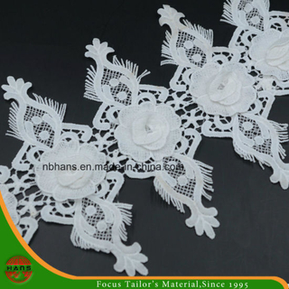 2017new Design Embroidery Lace on Organza (HJKL-1702)