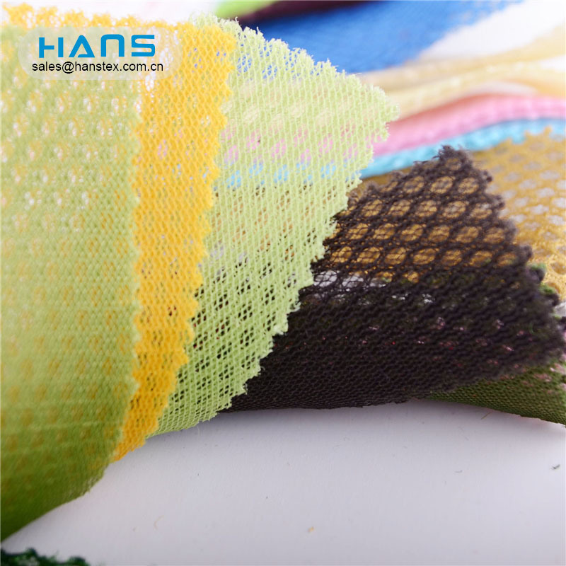 Hans Made in China Polyester Stiff Poly tejido de malla antimicrobiano