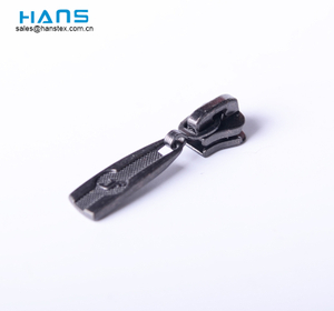 Hans Good Quality Custom Cóncava Logo Zipper Puller Slider