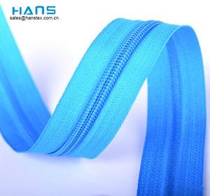 Hans Made in China cremallera de alta resistencia en rollos