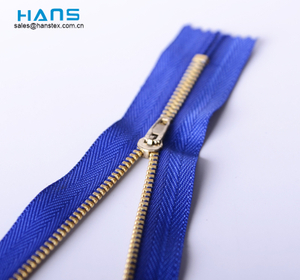 Hans OEM Customized Multicolor # 3 Metal Zipper
