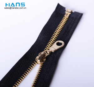 Hans Wholesale Custom Logo Color Metal Metal Zipper