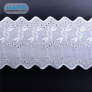 Hans Factory Manufacturer Apparel Tc Tissue Lace