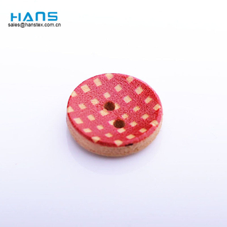 Hans Fast Delivery Sewing Plating Colors Botones de madera personalizados